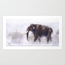 Mammuthus Primigenius Finished Art Print