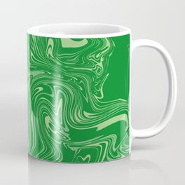Green pastel abstract marble Coffee Mug