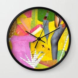 She Names Colors Wall Clock