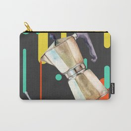 Coffee Pop Art Collage Good Morning Carry-All Pouch