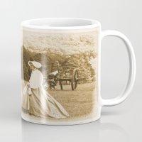 battlefield Mugs featuring Strolling on the Battlefield by Frankie Cat