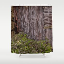Corrugated Rusty Shed Shower Curtain