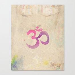 Om Pink Canvas Print
