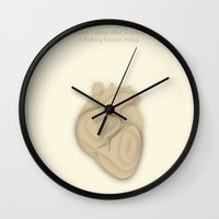 literary Wall Clocks featuring Literary Quote Poster — A quote from David Foster Wallace by Evan Beltran