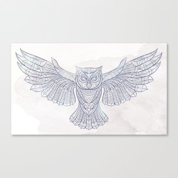 Ethnic Owl Canvas Print
