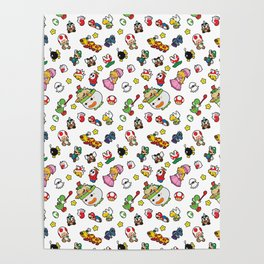 It's a really SUPER Mario pattern! Poster