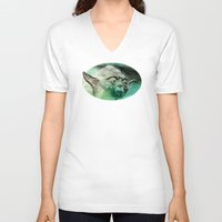 yoda V-neck T-shirts featuring YODA by ARTito