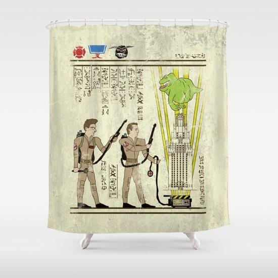 hero-glyphics: Slimed Shower Curtain