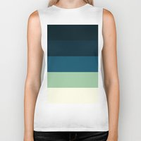 nautical Biker Tanks featuring Nautical Stripes by Simply Chic