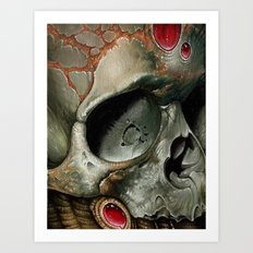 small bio skull Art Print