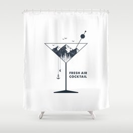 Fresh Air Cocktail Shower Curtain