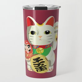 Maneki Neko - Lucky Cat Travel Mug