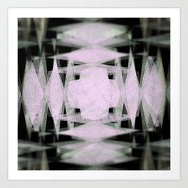 Diamond blur pattern Art Print