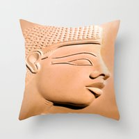 egyptian Throw Pillows featuring Egyptian Beauty by Brian Raggatt