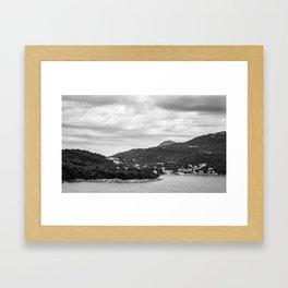 Dubrovnik Landscape BW Framed Art Print