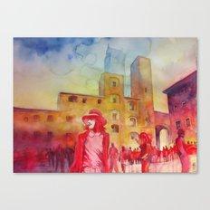 Chapeau rouge Canvas Print