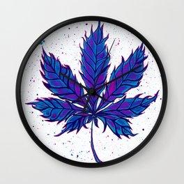 Cannabis Splatter Wall Clock