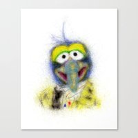 muppets Canvas Prints featuring Gonzo, The Muppets by KitschyPopShop