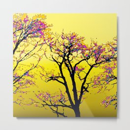 514 - Abstract Tree Sunset Design Metal Print