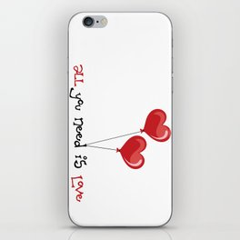 all you need is love iPhone Skin