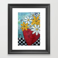 Build me up buttercup Framed Art Print