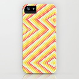 Bright Sunshine - Red, Orange and Yellow Lines - Illusion Art - 57 M Ave iPhone Case