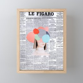 le figaro Framed Mini Art Print