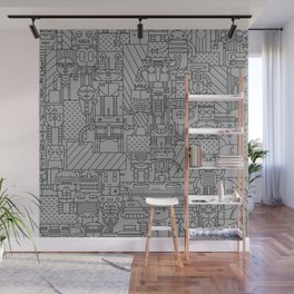 Bot City Wall Mural