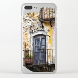 Urban Sicilian Facade Clear iPhone Case