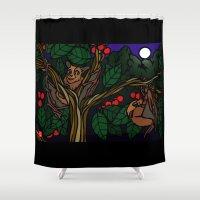 bats Shower Curtains featuring Bats by Mel McIvor
