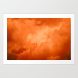 Red Hot Burning Sunset Clouds – Cloudscape Photography Art Print
