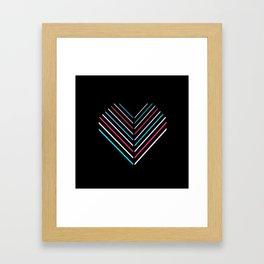 Transcend Neon Heart Framed Art Print