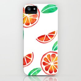 Fresh and Jucy Orange Watercolor iPhone Case