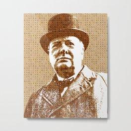 Scrabble Winston Churchill Metal Print