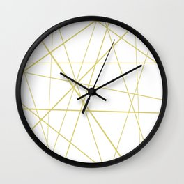 Golden lines on white Wall Clock