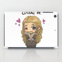cuddle iPad Cases featuring Cuddle me by AlyTheKitten