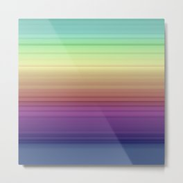 gradient , rainbow, colorful, stripes Metal Print