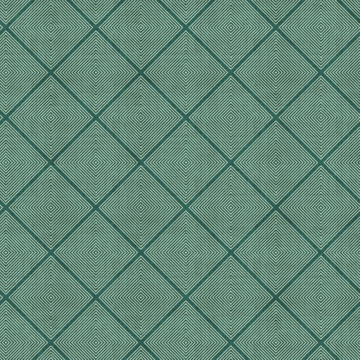 Stitched Diamond Geo Grid in Green Comforters
