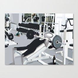 Corky @ the Gym.  Canvas Print