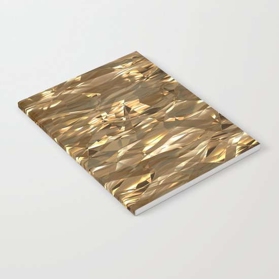 Golden Crinkle Notebook