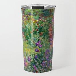 "Claude Monet ""The iris garden at Giverny"", 1900 Travel Mug"