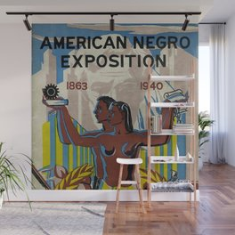 Vintage African American Negro Exposition Poster Advertisement Wall Mural