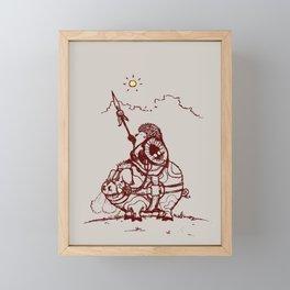 Nature Warriors: Battle Hedgehog Framed Mini Art Print