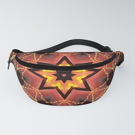 Kaleidoscope fantasy on lights in the shape of a bison! Fanny Pack