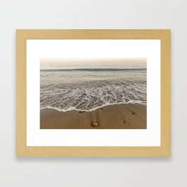 Sunset at Pebble Beach 7-18-18 Framed Art Print
