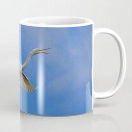 Stunning Egret in Flight Coffee Mug