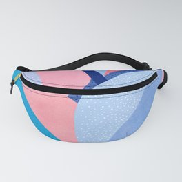 Fire and Ice II / Abstract Tropical Garden in Pink and Blue Fanny Pack