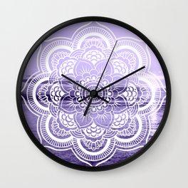 Water Mandala Lavender Wall Clock