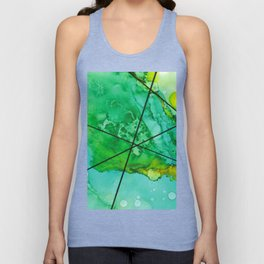 Green under the Lines Unisex Tank Top