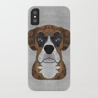 boxer iPhone & iPod Cases featuring Boxer by ArtLovePassion